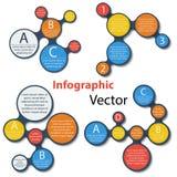 Sistema de elementos infographic de Metaball en blanco Imágenes de archivo libres de regalías
