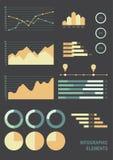 Sistema de elementos infographic del negocio Fotografía de archivo