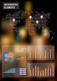 Sistema de elementos infographic del negocio Fotografía de archivo libre de regalías