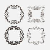 Sistema de elementos de las decoraciones del vintage Ornamentos y marcos caligráficos de los Flourishes libre illustration