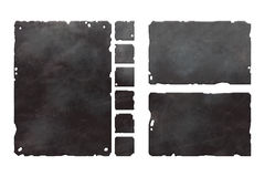 Sistema de elementos metálicos stock de ilustración