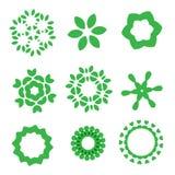 Sistema de elementos orgánico del diseño Foto de archivo