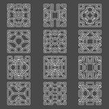 Sistema de elementos originales del diseño - Ilustración del Vector