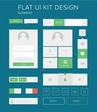 Sistema de elementos plano del diseño del equipo del ui para el webdesign Imágenes de archivo libres de regalías