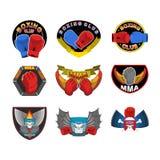 Sistema de emblemas, de logotipos y de rayas del boxeo Muttahida Majlis-E-Amal, logotipo del club de la lucha Imagen de archivo libre de regalías