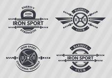 Sistema de emblemas de los deportes Fotos de archivo