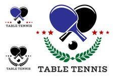 Sistema de emblemas de los tenis de mesa Fotografía de archivo libre de regalías
