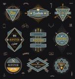 Sistema de emblemas de moda del inconformista Foto de archivo
