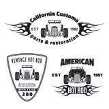 Sistema de emblemas del coche de carreras Fotos de archivo