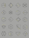 Sistema de emblemas del extracto del esquema Imagenes de archivo