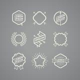 Sistema de emblemas del inconformista Fotografía de archivo libre de regalías