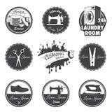 Sistema de emblemas del taller del vintage ilustración del vector
