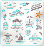 Sistema de emblemas del viaje y de las vacaciones Foto de archivo libre de regalías