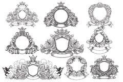 Sistema de emblemas del vintage Foto de archivo libre de regalías