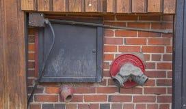 Sistema de emergência do sistema de extinção de incêndios Foto de Stock Royalty Free