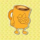 Sistema de emociones de la taza de la historieta (taza) Fotos de archivo