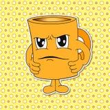 Sistema de emociones de la taza de la historieta (taza) Fotografía de archivo libre de regalías