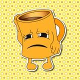 Sistema de emociones de la taza de la historieta (taza) Fotos de archivo libres de regalías