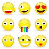 Sistema de Emoji Sistema del Emoticon Fotos de archivo