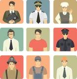 Sistema de empleos de la gente de los avatares Fotografía de archivo libre de regalías