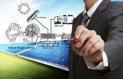 sistema de energia híbrido Foto de Stock Royalty Free