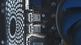 Sistema de enfriamiento del ordenador Dispositivo moderno de la ventilación almacen de metraje de vídeo