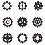 Sistema de engranajes del vector Imagen de archivo libre de regalías