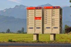 Sistema de entrega rural da estação de correios de Canadá Fotos de Stock Royalty Free
