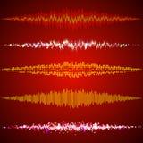 Sistema de equalizadores de la música Imagen de archivo
