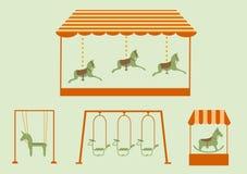 Sistema de equipo en un patio, ejemplos del vector Fotografía de archivo libre de regalías