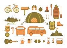 Sistema de equipo para acampar Fotografía de archivo libre de regalías