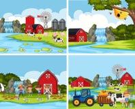 Sistema de escenas de la granja libre illustration