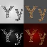 Sistema de estilos de la representación visual del alfabeto El ` del ` y de la letra deletreado handmade Imagen de archivo libre de regalías
