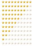 Estrellas de clasificación Imagenes de archivo