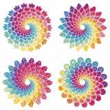Sistema de estrellas espirales Fotografía de archivo libre de regalías