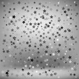 Sistema de estrellas grises Fotos de archivo libres de regalías