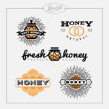 Sistema de etiqueta de la abeja de la miel Imagenes de archivo