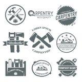 Sistema de etiqueta de la carpintería Foto de archivo