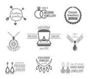Sistema de etiqueta de la joyería Imagenes de archivo