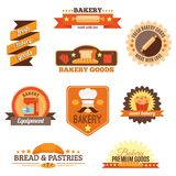 Sistema de etiqueta de la panadería Fotografía de archivo libre de regalías