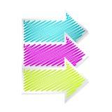 Sistema de etiqueta de las flechas del color Stock de ilustración