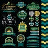 Sistema de etiqueta de lujo Imagen de archivo libre de regalías