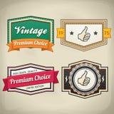 Sistema de etiqueta retro 3 stock de ilustración