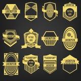 Sistema de etiqueta superior del vintage Fotografía de archivo libre de regalías