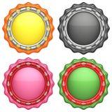 Sistema de etiquetas abstractas del círculo Imagen de archivo