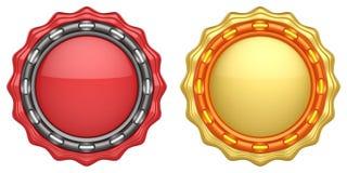 Sistema de etiquetas abstractas del círculo Imagen de archivo libre de regalías