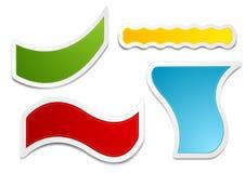 Sistema de etiquetas brillante de las etiquetas engomadas Imágenes de archivo libres de regalías