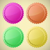 Sistema de etiquetas coloridas del círculo stock de ilustración