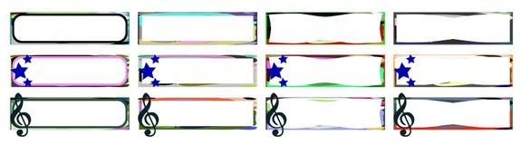 Sistema de etiquetas colorido abstracto Imagenes de archivo