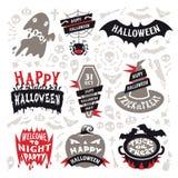 Sistema de etiquetas de Halloween Fotos de archivo